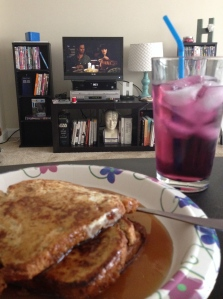 "Because Saturday's are now for homemade breakfast and ""New Girl"" marathons."